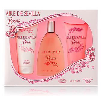 Damen's Parfüm Set Agua Rosas Aire Sevilla (3 Stück)