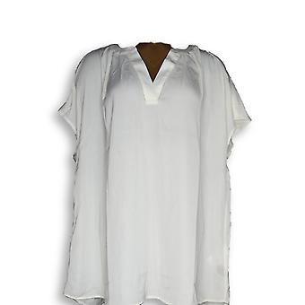 G.I.L.I. got it love it Women's Plus Top Liquid Knit Ivory A288469