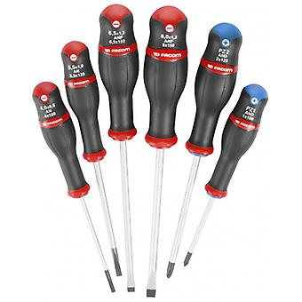 Facom And.J6Pb Set Of 6 Protwist Screwdrivers For Pozidriv And Slotted Screw..