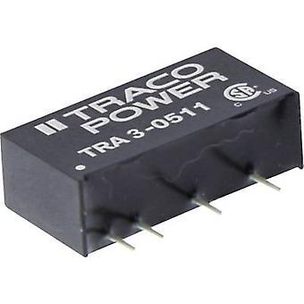 TracoPower TRA 3-1212 DC / DC محول (الطباعة) 12 V DC 12 V DC 250 mA 3 W No. من النواتج: 1 x