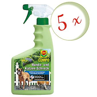 Sparset: 5 x COMPO Dog and Cat Scare, 500 ml