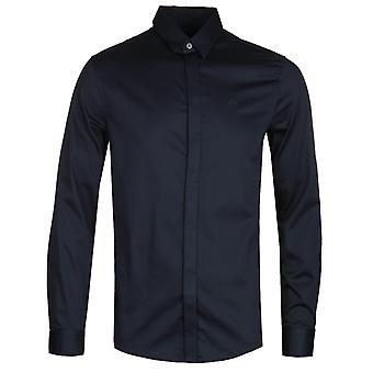 Armani Exchange Poplin Navy Camicia