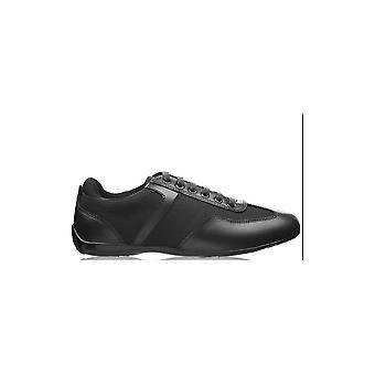Emporio Armani Smart Leather/mesh Black Trainer