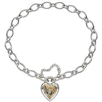 Elements Silver Heart Bracelet - Silver/Gold