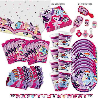 My Little Pony MLP Party Set XL 78-Piece voor 8 gasten PonyParty Verjaardagsdecoratie Party Pakket
