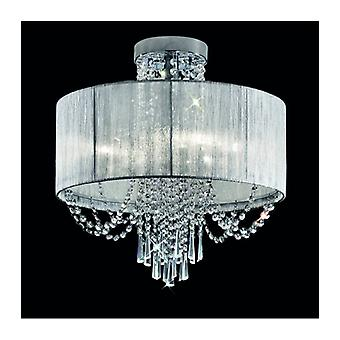 Empress Crystal Chrome Ceiling Light 6 Bulbs