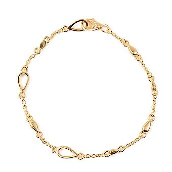 Lucy Q Open Drip Bracelet for Women Yellow Gold Plated Sterling Silver Size 7.5