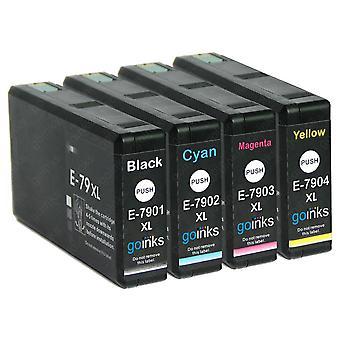 1 4 tintapatronból álló készlet az Epson T7906 (79XL sorozatú) helyett Kompatibilis/nem OEM-készlet a Go Inks (4 inks)