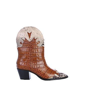 Paris Texas Px144xcgpncognacnaturale Women's Brown Leather Ankle Boots