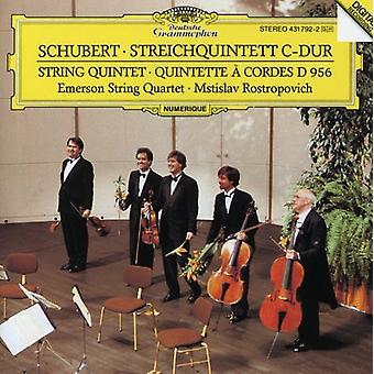 Rostropovitj/Emerson String Quartet - Schubert: Stråkkvintett [CD] USA import