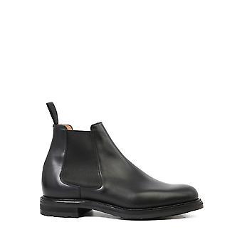Church's Etc0959agxf0cy2 Men's Black Leather Enkellaarsjes