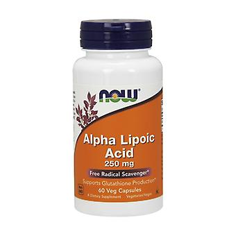 Alpha Lipoic Acid 250 mg High Antioxidant Power 60 capsules of 250mg
