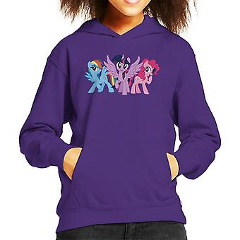 My Little Pony Main Characters Giggling Kid's Hooded Sweatshirt