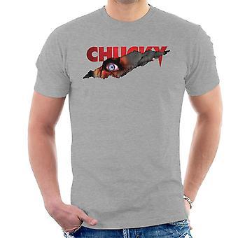 Chucky menacing oog mannen ' s T-shirt