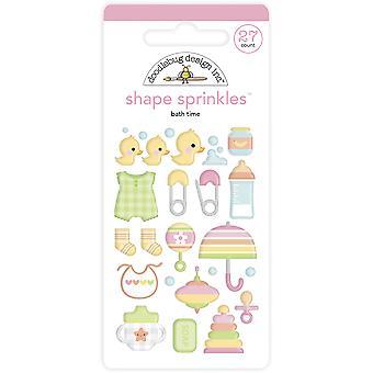 Doodlebug Design Bath Time Shape Sprinkles (27pcs) (6755)