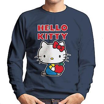 Hello Kitty Holding Apple Miehet&s Collegepaita