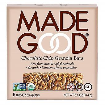 Made dobrý čokoládový čip Granola bary