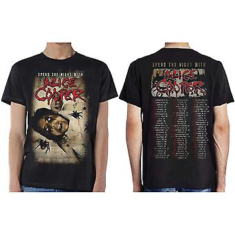 Alice Cooper Spend The Night With Spiders Official T-Shirt Unisex