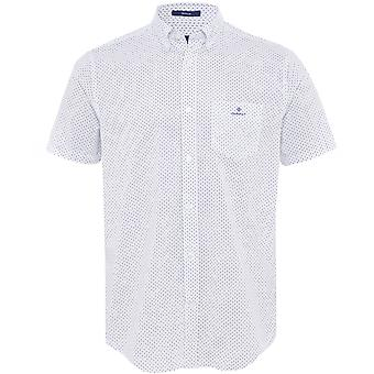 GANT العادية تناسب قميص طباعة قصير الأكمام