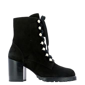 Stuart Weitzman Iveysueblk Femmes's Black Suede Ankle Boots