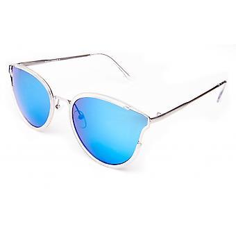 Lunettes de soleil Unisexe argent/bleu glacé