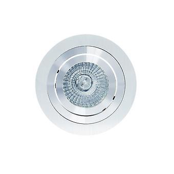 Inspiriert Mantra Fusion - Basico - Schwenken Einbau Downlight 9.2cm Runde 1 x GU10 Max 50W Aluminium