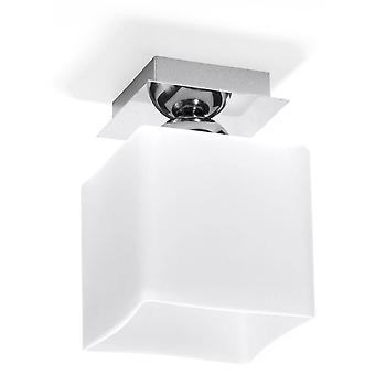 1 Light Flush Ceiling Light White, Chrome, E27
