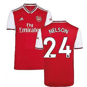 2019-2020 آرسنال أدداس هوم فوتبول قميص (نيلسون 24)