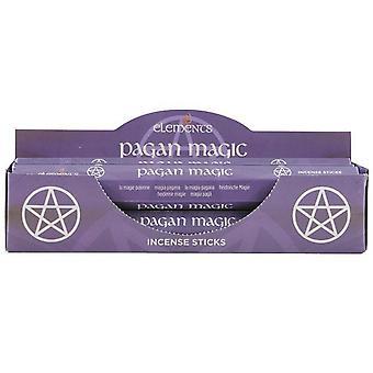 Bâtonnets d'encens magique païenne (boîte de 6 Packs) d'éléments.