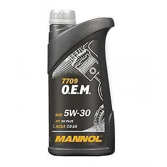Mannol 5W-30 Huile de moteur entièrement synthétique 1L 5W30 API SN/CF A5/B5