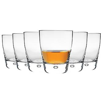 Bormioli Rocco Luna Whisky Tumbler Glasögon Set med Bubble Base - 260ml - Förpackning med 6