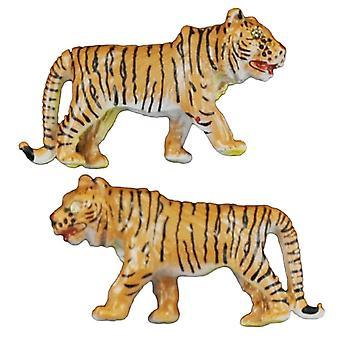 Bånd Planet Tiger Wildlife Safari Animal Manchetknapper