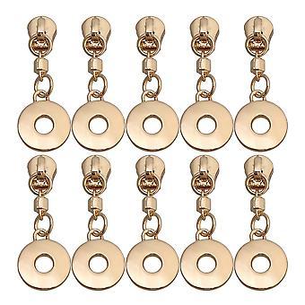 10 x metalen ritsen rits rits slider zip puller reparatie kit