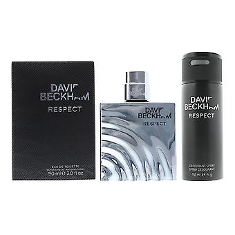 David Beckham Respekt Eau de Toilette 90ml & Deodorant Spray 150ml