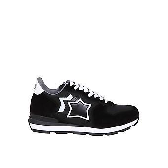 Atlantic Stars Antarnnnnnbt10 Männer's Schwarze leder Ner-Sneakers