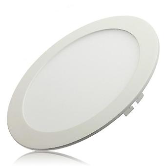 Dimmable Ultra Thin Led Ceiling Recessed Grid Panel Light / Slim Round
