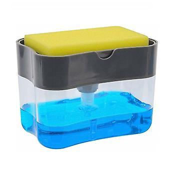 2-in-1 Pompa Sapone Dispenser Sponge Caddy per sapone piatto & Sponge Clean Bathroom Fixture Dispensador per bagno cucina