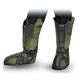 Master Chief Halo Army Video Games Book Week Child Boys Costume Boot Covers