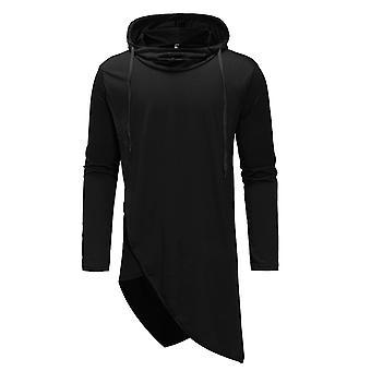 YANGFAN Mens Casual Long Sleeve Hoodies Solid Colors Sweatshirt