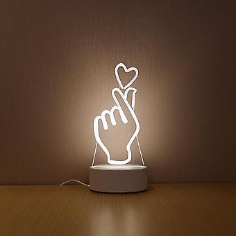 Creatief, 3d, acryl led nachtlamp voor home decoratie