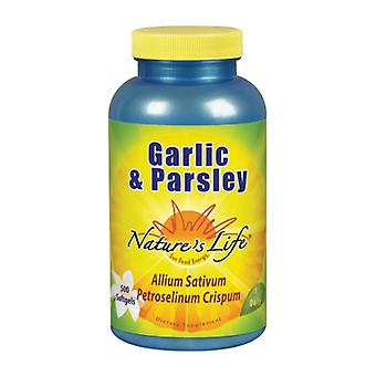 Nature's Life Garlic & Peterselie, 1.2/1mg, 500 softgels