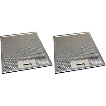 2 x Universal Cooker Hood Metal Grease Filter 231mm x 276mm
