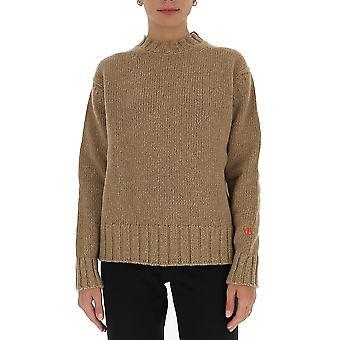 Victoria Beckham 1320kju001671a Women's Beige Wool Sweater