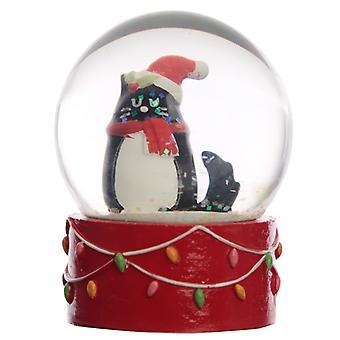 Sammlerstücke Chritmas Feline festliche Katze Schnee Kugel Wasserball