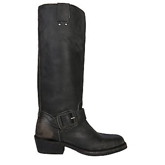 Ash Nico01 Dames's Black Leather Boots