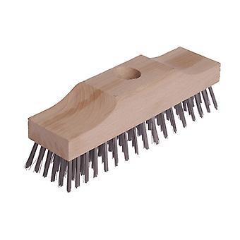 Lessmann Broom Head Raised Wooden Stock 6 Row 220mm x 60mm LES148101