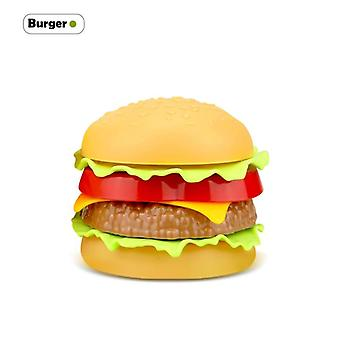 Children Food Hamburger, Hotdog, Kitchen Toy Set- Snack Burger Educational/