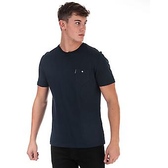 Men's Ben Sherman Spade Tasche T-Shirt in blau