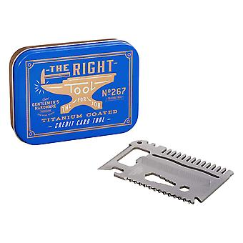 Gentlemen's hardware - titanium credit card tool