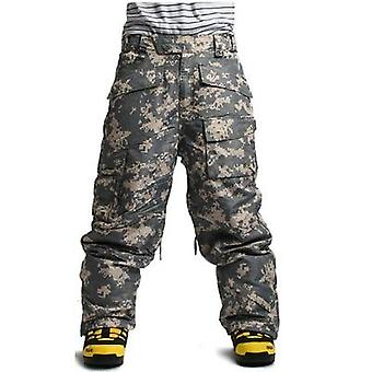 Winter Waterproof Skiing Snowboard 10,000mm Warming Army Military Total Pants